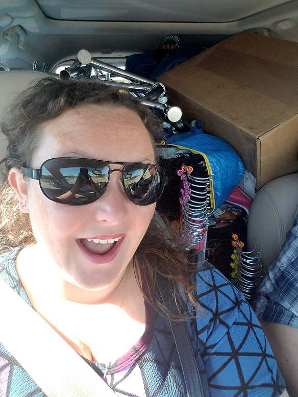 Car loaded with LLR