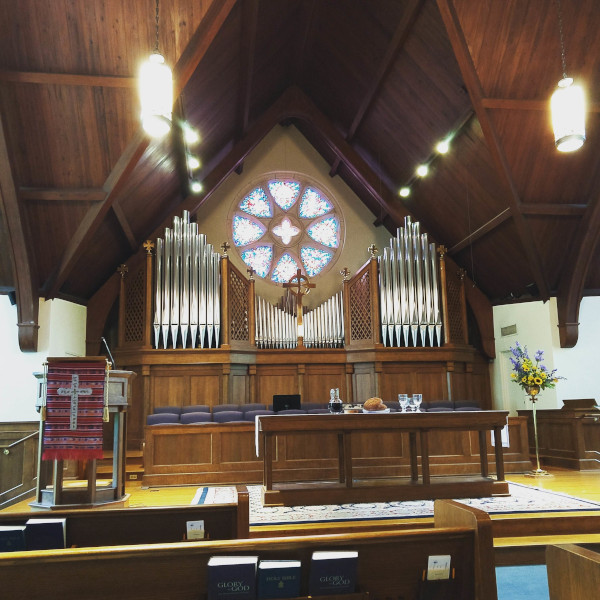 The sanctuary at Westminster Presbyterian in Austin, Texas